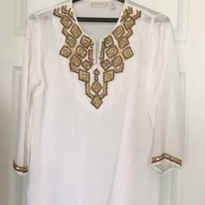 Chico's Embellished Top